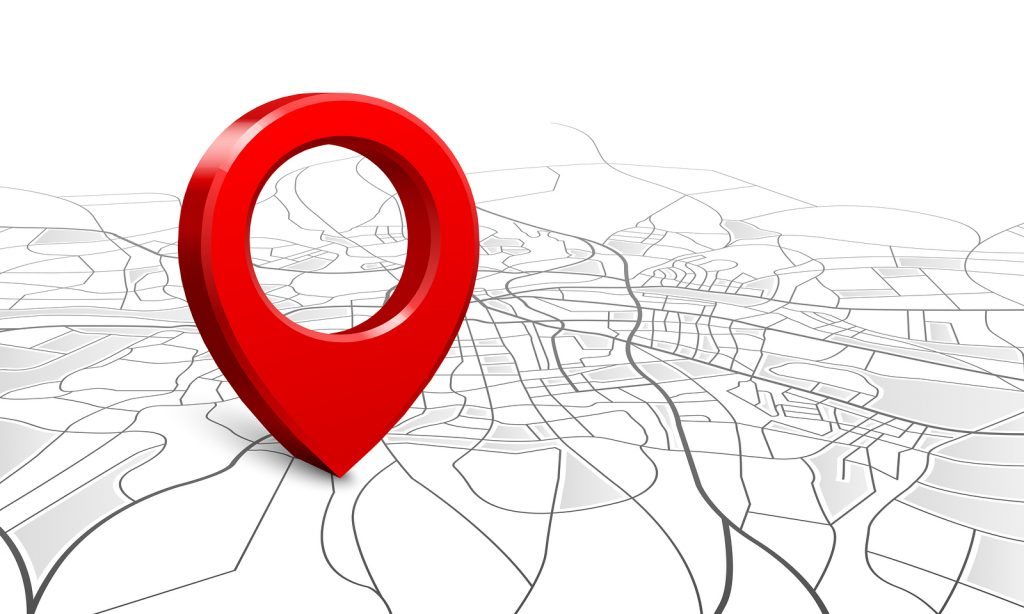 bigstock Navigation Map Street d Loca 283204459